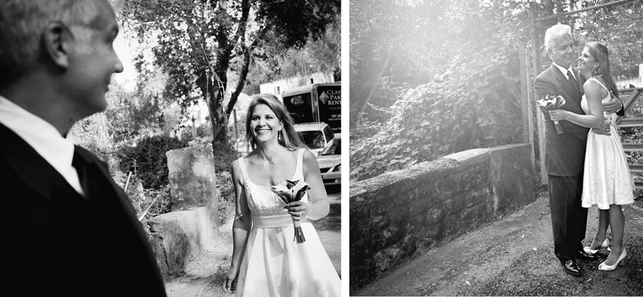 bride and groom first see buena vista winery wedding