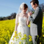couple in mustard field