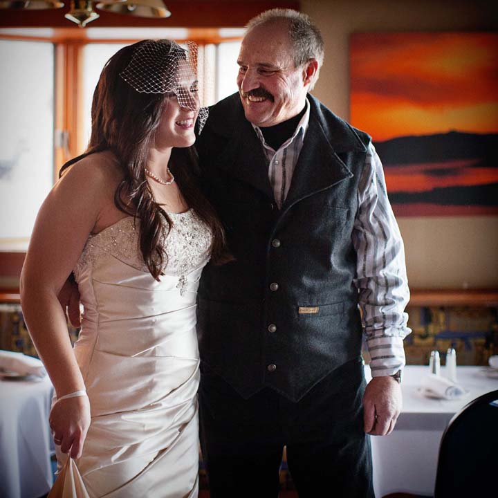bride and father lake tahoe elopement