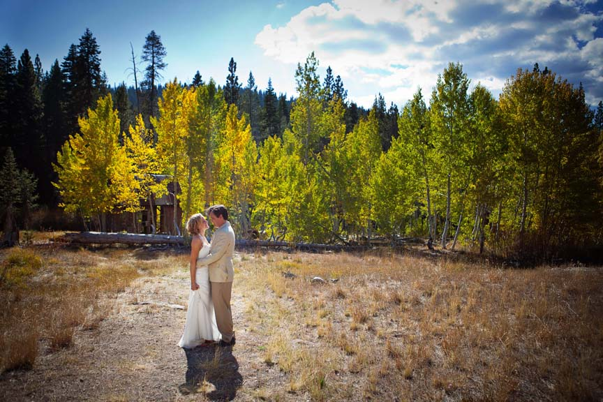 Brockway Summit bride and groom portrait