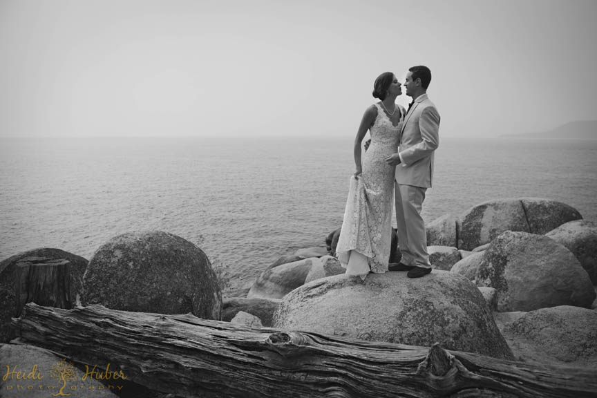 Chateau at Incline Village wedding couple